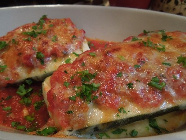 Traditional Italian Zucchini boats, old italian family recipe that is ...