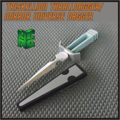 Star Trek TOS Mirror Mirror Dagger-Silver-One Side Ornamental Variant