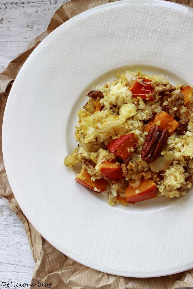 Delicious blog: Zapečené jáhly s dýní a kysaným zelím