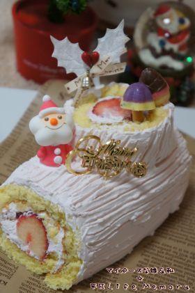 「【クリスマス】苺ブッシュ・ド・ノエル」あじよし | お菓子・パンのレシピや作り方【corecle*コレクル】