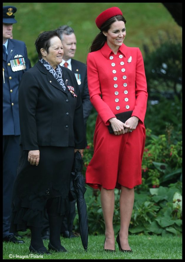 Kate in Catherine Walker. There may be a few too many buttons, but they are great buttons.