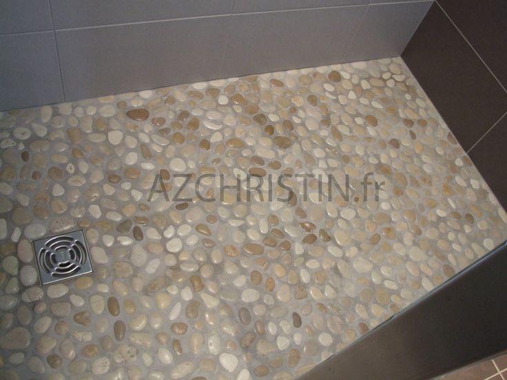 124 sol de douche italienne en galets photos pinterest d couvrez plus d 39 id es sur les - Galet pour douche italienne ...