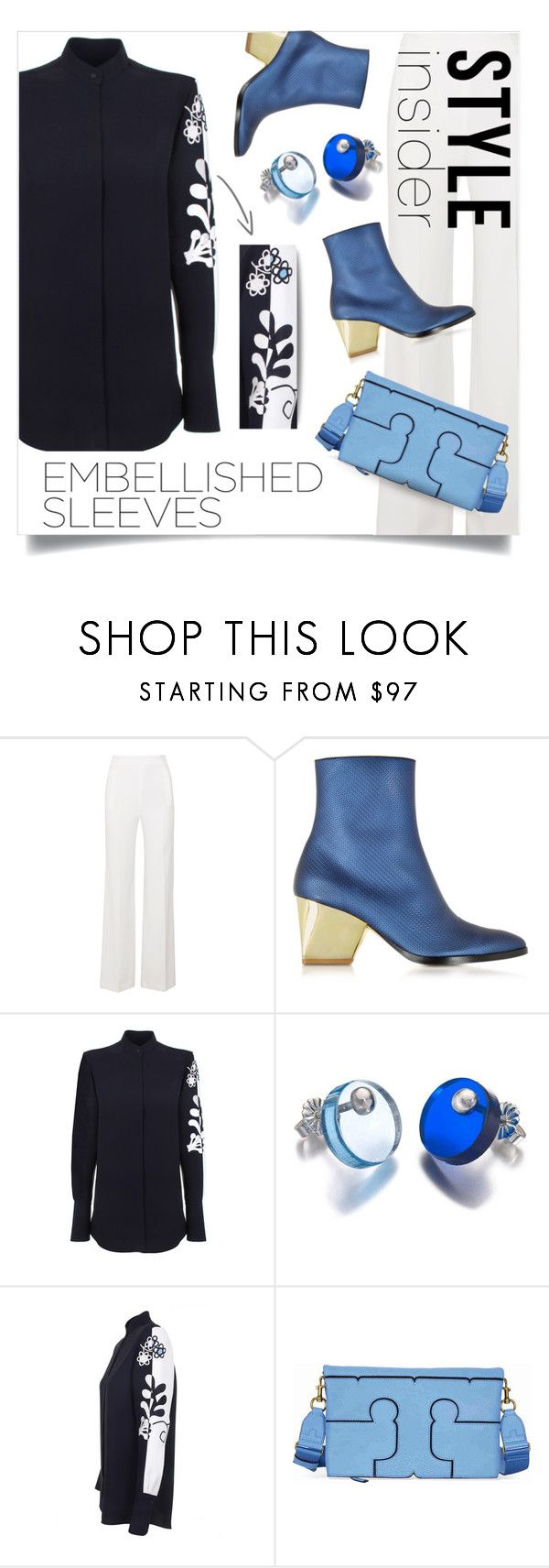 """""""embellished"""" by collagette ❤ liked on Polyvore featuring Roland Mouret, Zoe Lee, Victoria, Victoria Beckham, FrillyByLily, Tory Burch, ToryBurch, victoriabeckham and embellishedsleeves"""