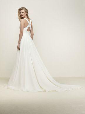 Robe de mariée évasée décolleté en V