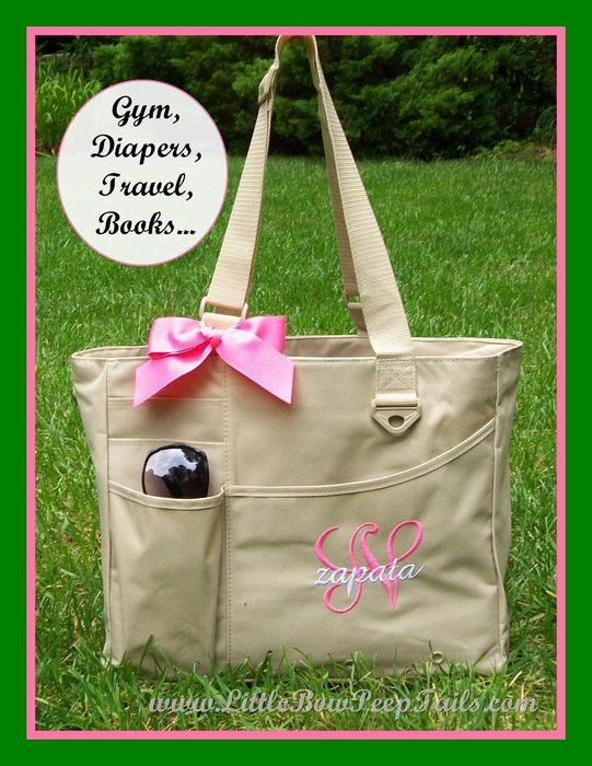 Best 25 girl diaper bag ideas on pinterest baby girl diaper initial and name teacher tote monogrammed briefcase personalized diaper bag large size solid color baby shower teacher gift idea book bag negle Image collections