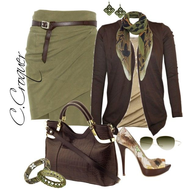 Even though I wouldn't wear the heels, I love all the colors of everything, camo!