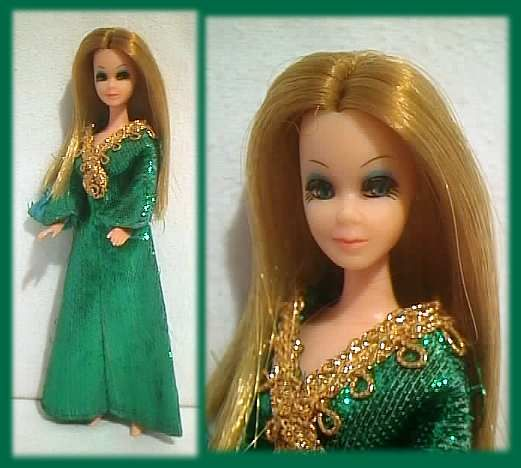 emerald fancy - Vintage Dawn Doll - I STILL own this dress for my Dawn doll