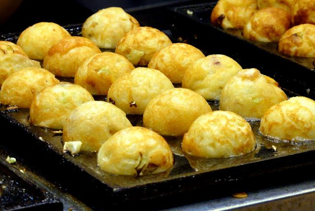 Kowloon street food, fish balls.