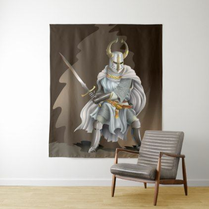 Crusader Knight Large Wall Tapestry - home gifts ideas decor special unique custom individual customized individualized
