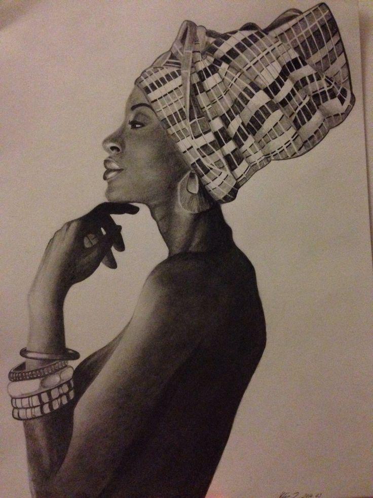 Black beauty- portrait drawing, dorottyaart.com