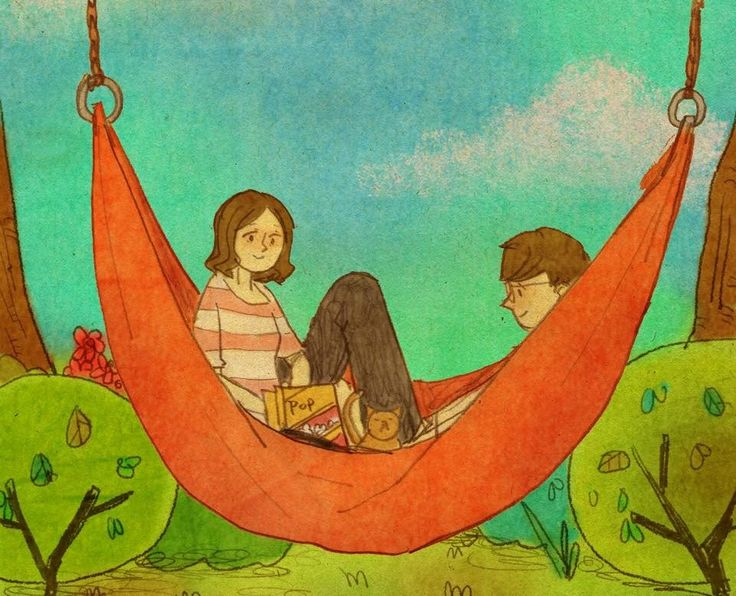♥ We slung our hammock between two trees ♥ by Puuung at www.grafolio.com ♥