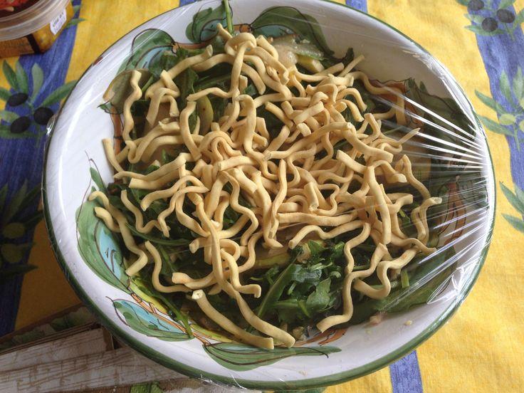 Crispy blue cheese salad. I used crispy noodles instead of wonton wrappers.