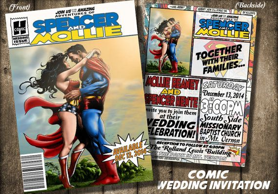 Comic Book cover Wedding invitationDigital or Printed by BowersInk