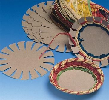 Larger image for Raffia Basket Group Pack  (makes 24)    we could make from card board and yarn??