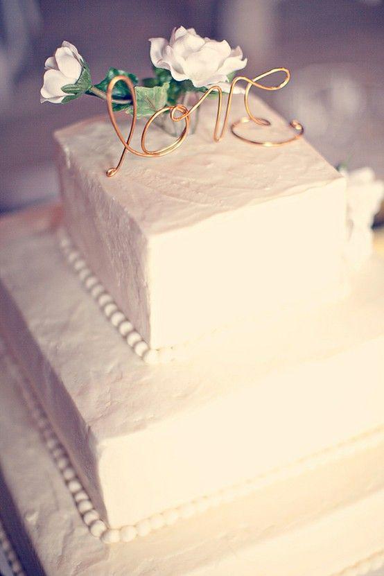 www.weddbook.com everything about wedding ♥ DIY Wedding Cake Topper #diy #vintage