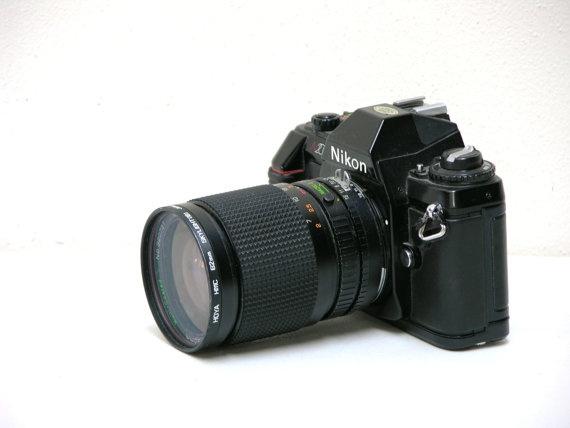 Vintage Nikon 2000 35mm SLR Camera with Zoom Lens by arksendeavors, $85.00