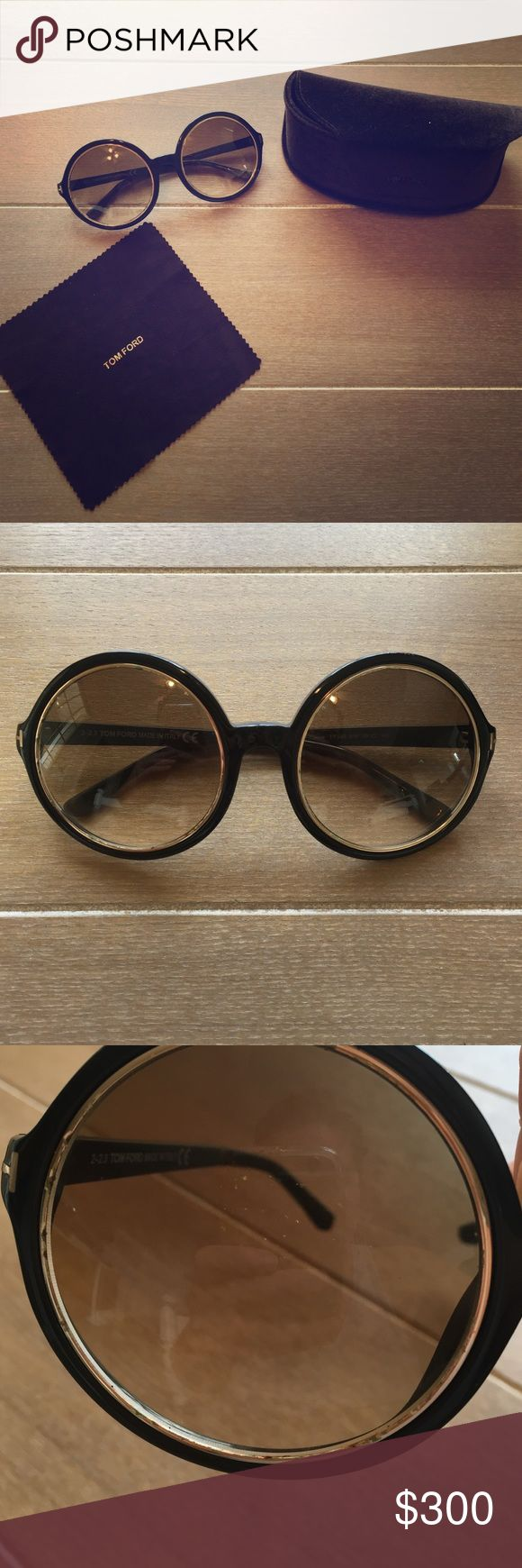SALE Tom Ford Round Sunglasses Authentic Tom Ford sunglasses. Includes original case and cleaning cloth. great condition, although there is some slight damage on the lenses as shown in the pictures. If you are a sunglasses lover, these are a must have! Accessories Sunglasses