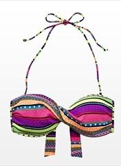 Aztec bandeau bikini top