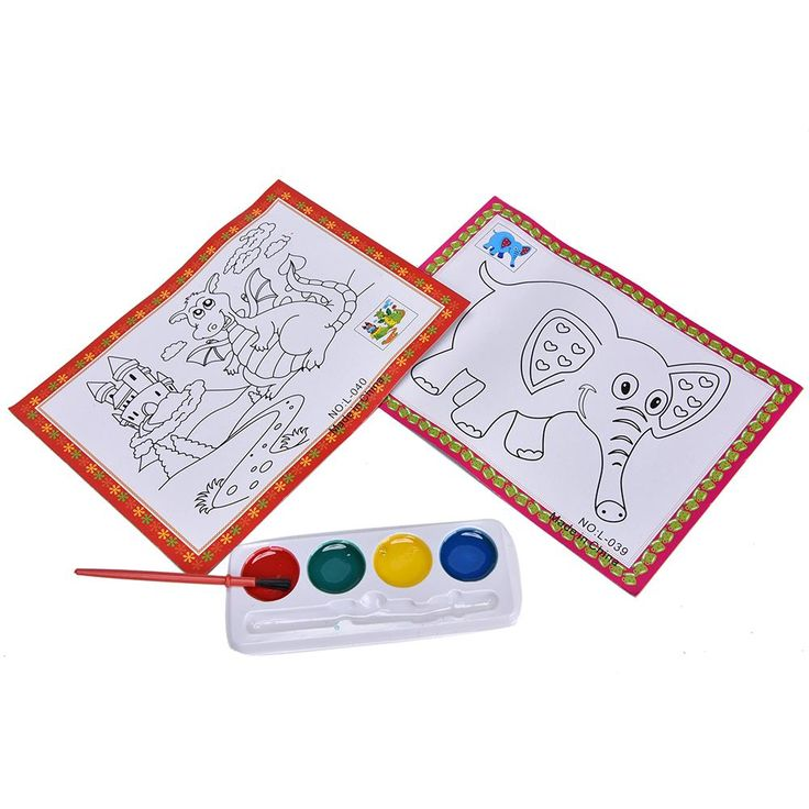 Hot sale 4 Colors DIY Watercolor Painting Set Kids Educational Drawing Toy Stimulate Children's Imagination Toy