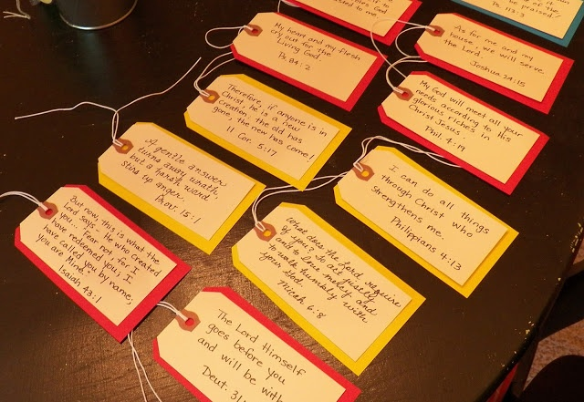 ... ...Blessings: Scripture Tags... | Cool Things to Make | Pint: pinterest.com/pin/239253798926749236