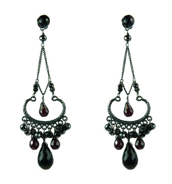 Black Onyx Chandelier Earrings