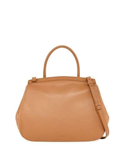 STEVEN ALAN KATE SMOOTH LEATHER SATCHEL BAG, TAN. #stevenalan #bags #shoulder bags #hand bags #leather #satchel #