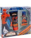spiderman eau de toilette 25ml  douchegel 60ml  Peter Parker was een normale jongen tot een spinnenbeet hem ongelooflijke superkrachten gaf. Zijn spinnenzintuig helpt hem gevaar te ontwijken. Spiderman is jouw vriendelijke superheld! Deze Spiderman geur bevat topnoten van nootmuskaat lavendel en peper. Dankzij deze Spiderman giftset kan ook jij nu ruiken als een ware superheld!  EUR 12.20  Meer informatie