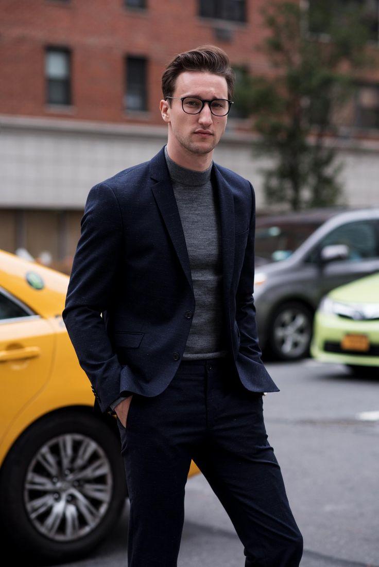 Marcel Floruss #streetstyle #jackandjones #suit #turtleneck #mensfashion #menswear