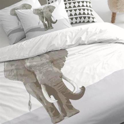 Damai Riese dekbedovertrek op www.smulderstextiel.nl #dekbedovertrek #elephant #olifant #beddengoed