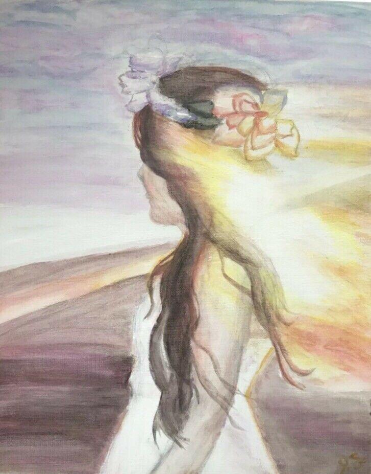ORIGINAL WATERCOLOR PAINTING ~ Unlocked Soul ~ unique watercolor portrait abstract watercolor painting