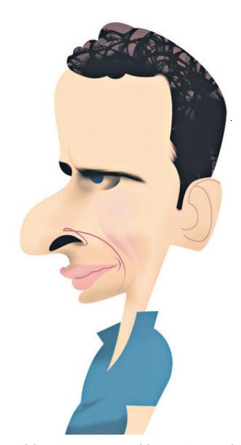 Ilustración de Henrique Capriles aparecido en la edición de papel del día miércoles 6 de marzo de 2013.