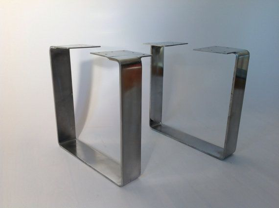 Flat steel square table legs industrial tables for Square iron table legs