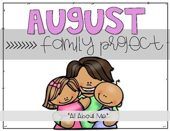 Monthly Family Projects (August – June) – Preschool projects