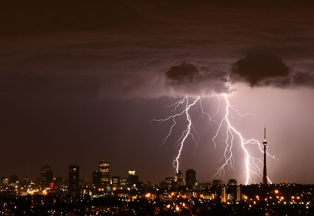 Lightning over Johannesburg
