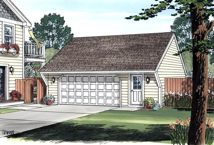 Cape cod saltbox traditional garage plan 30020 for Saltbox garage plans