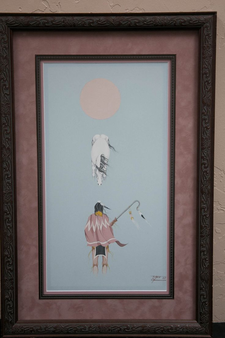 A rare Donald Vann piece. Donald is a Native American, Oklahoma artist who continues to attract new fans with his beautiful artwork.
