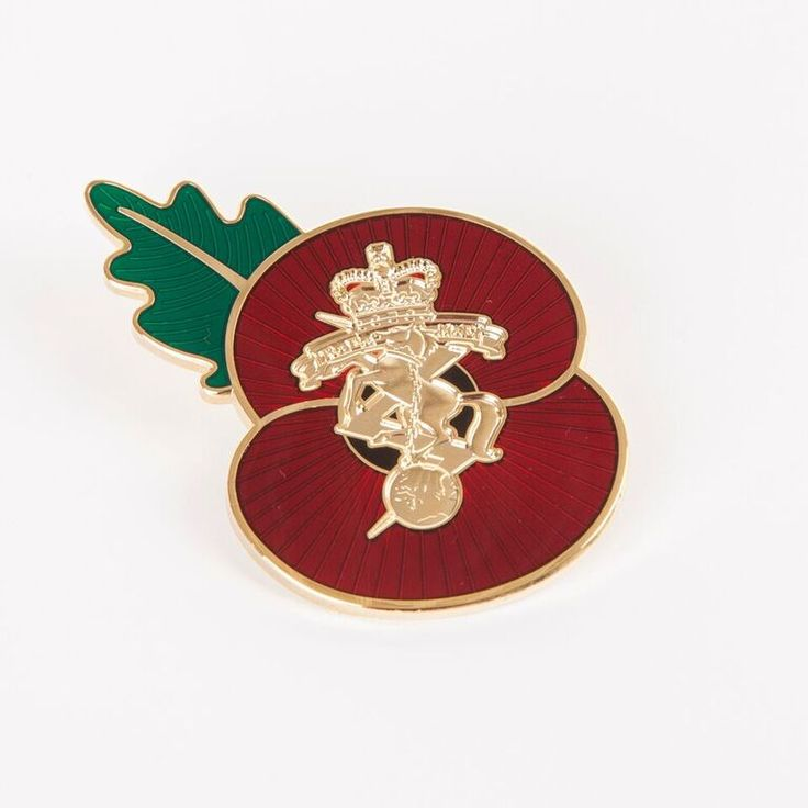Personalised poppy badges supplied by Impamark.