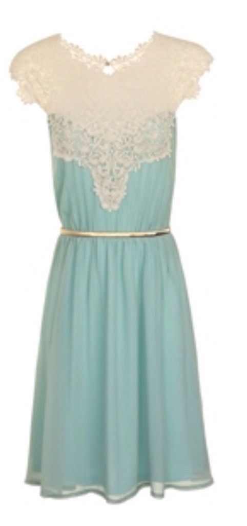 Ladies little mistress lace and mint dress