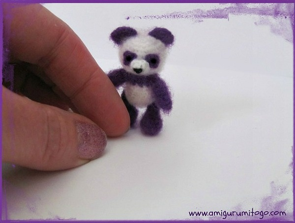 Purple Panda free crochet thread pattern