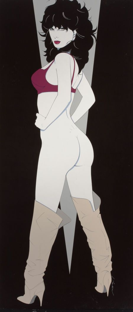 PATRICK NAGEL (American, 1945-1984). Playboy Pin-Up, July1982.   Lot #78218   Heritage Auctions sold for $158,500.