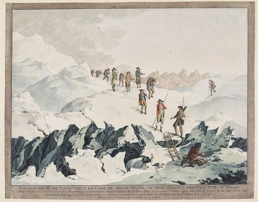 8 August -  the first ascent of Mont Blanc was completed by Michel-Gabriel Paccard and Jacques Balmat and marks the beginning of modern mountaineering.