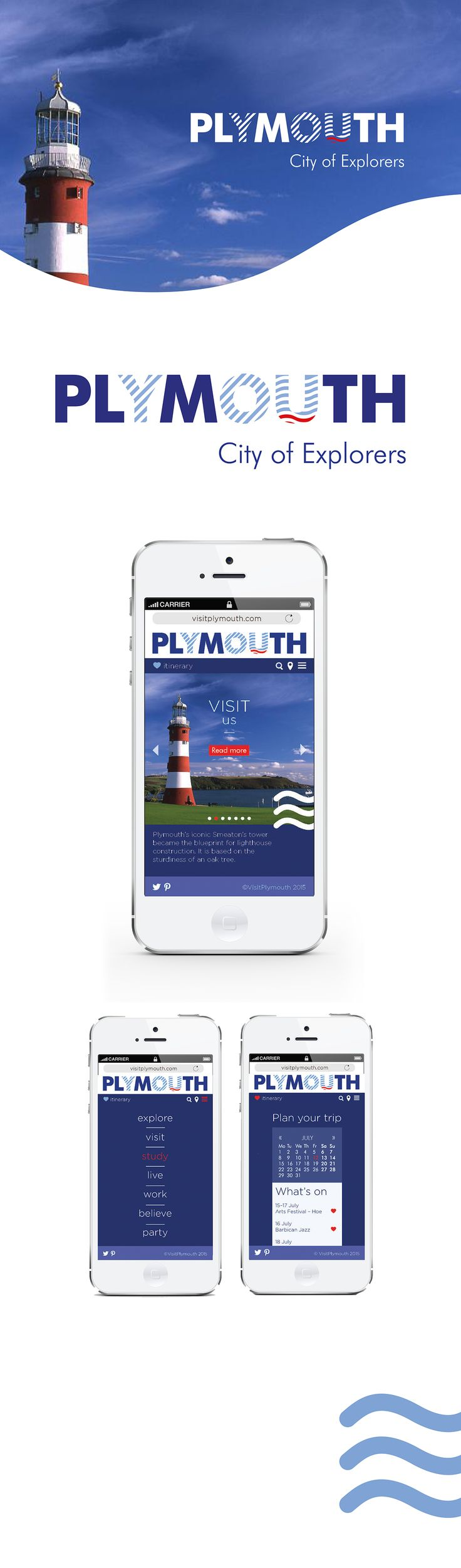 city branding and app for Plymouth, UK