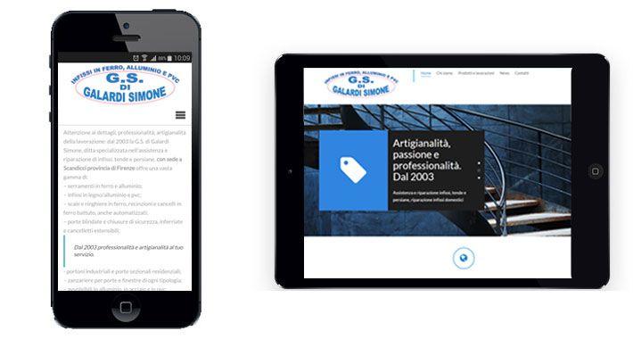 Nuovo sito web realizzato per GS di Galardi Simone, serramenti e infissi