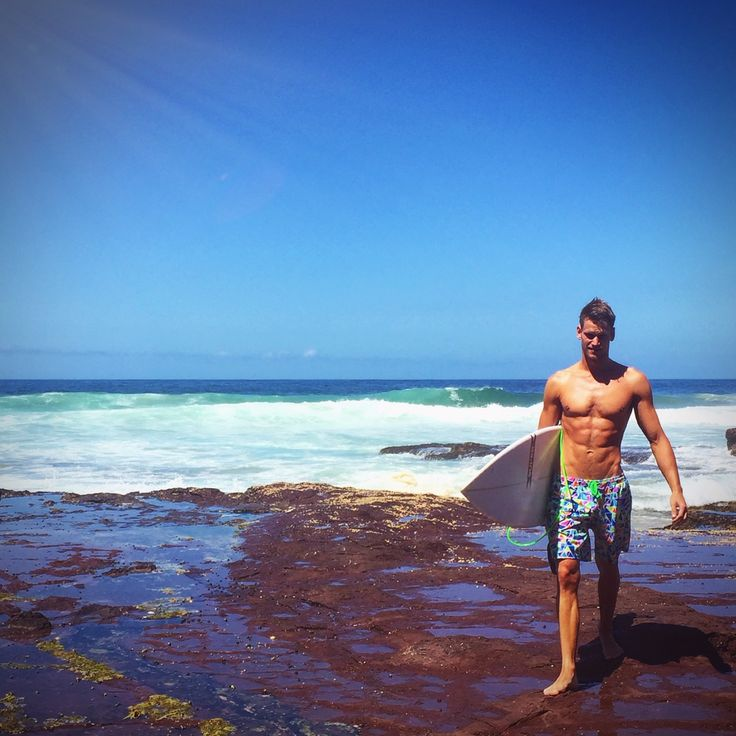 #fteamer Tomas elliott takes a break from training to catch some waves