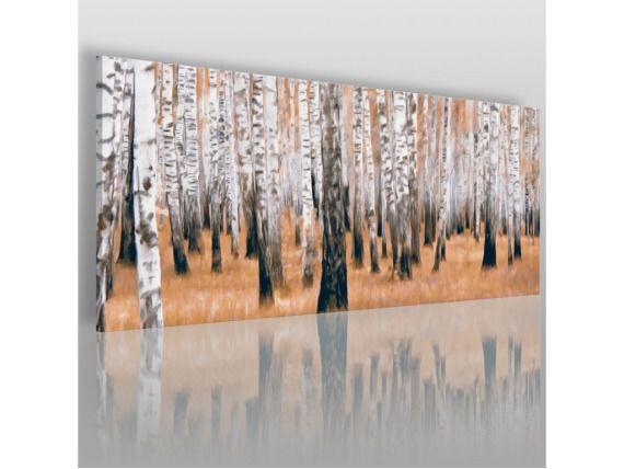 Las brzozowy - nowoczesny obraz na płótnie