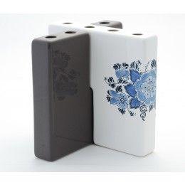 Dutch Design vaas Tulpen tegel Delfts blauw ontwerp Bronwasser voor Royal Goedewaagen