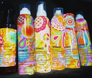 Check out this colorful lineup! Can't wait to try these all out! @love_amika #hair #stylingproducts #amika