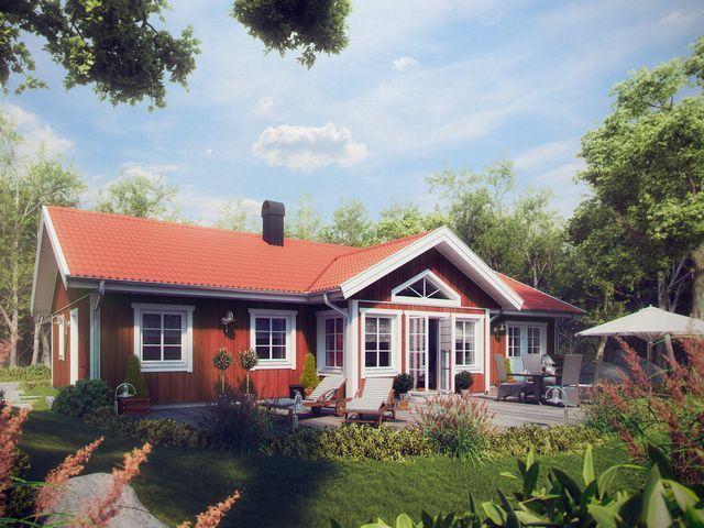 Сельма - одноэтажный шведский дом для большой семьи