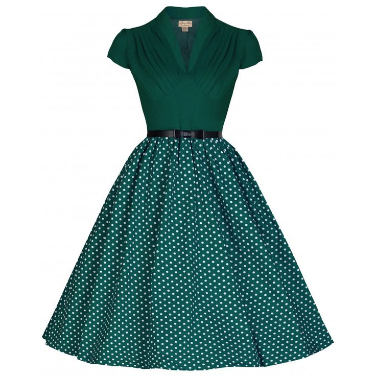 Robe Rétro Megan verte ! Vintage Dress Megan. Dispo sur http://frenchylili.com