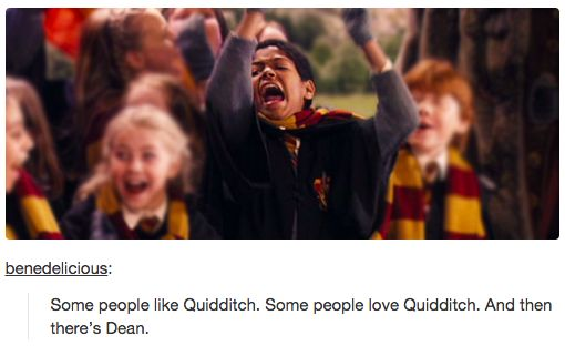 """And then there's Dean.   19 Tumblr Posts About """"Harry Potter"""" That Will Make Your Day"""